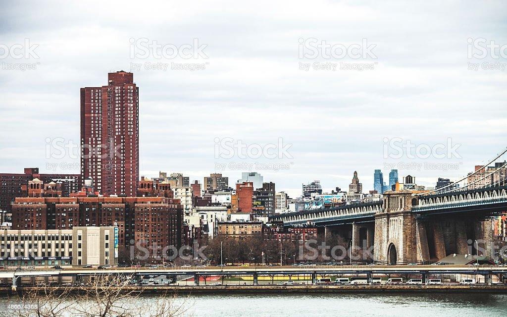 New York City skyline. stock photo