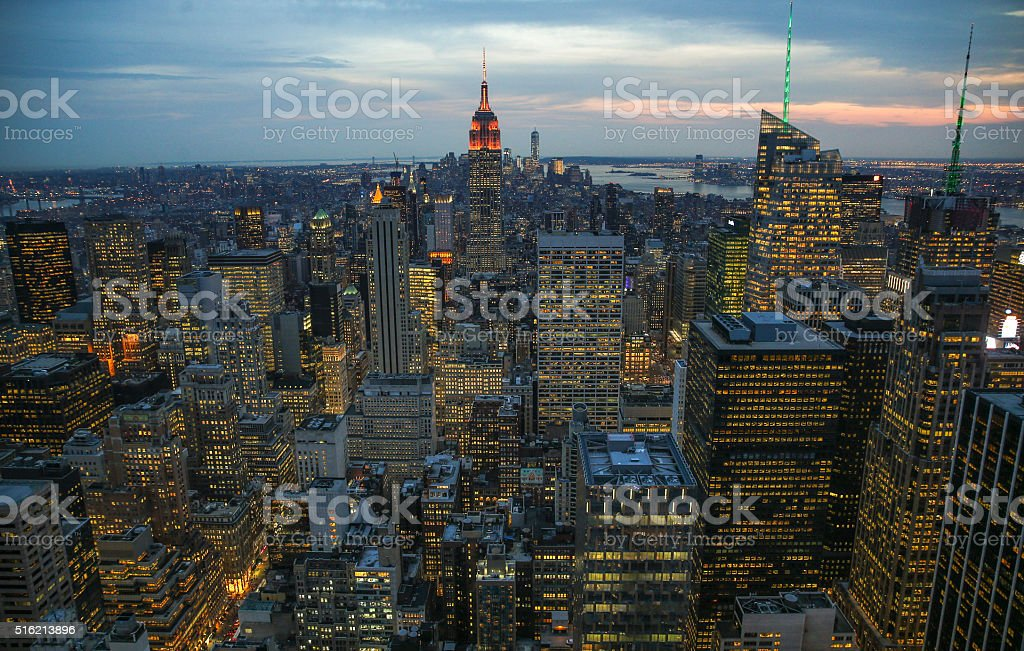 New York City Skyline. stock photo
