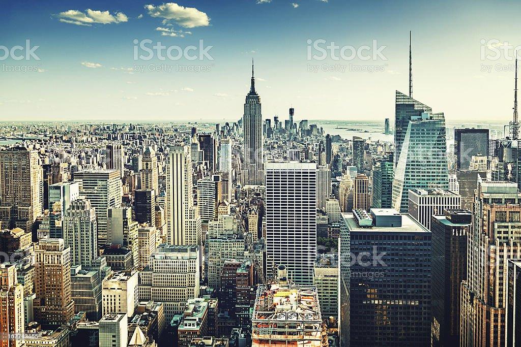 edificios de la ciudad de nueva york estados unidos foto de stock libre de derechos