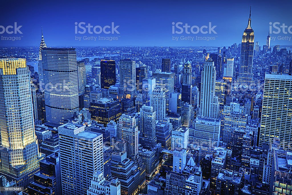 New York City skyline, USA stock photo