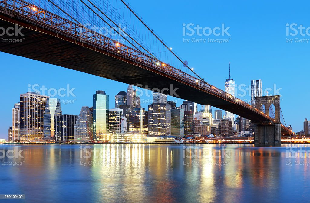 New York City skyline, USA stock photo