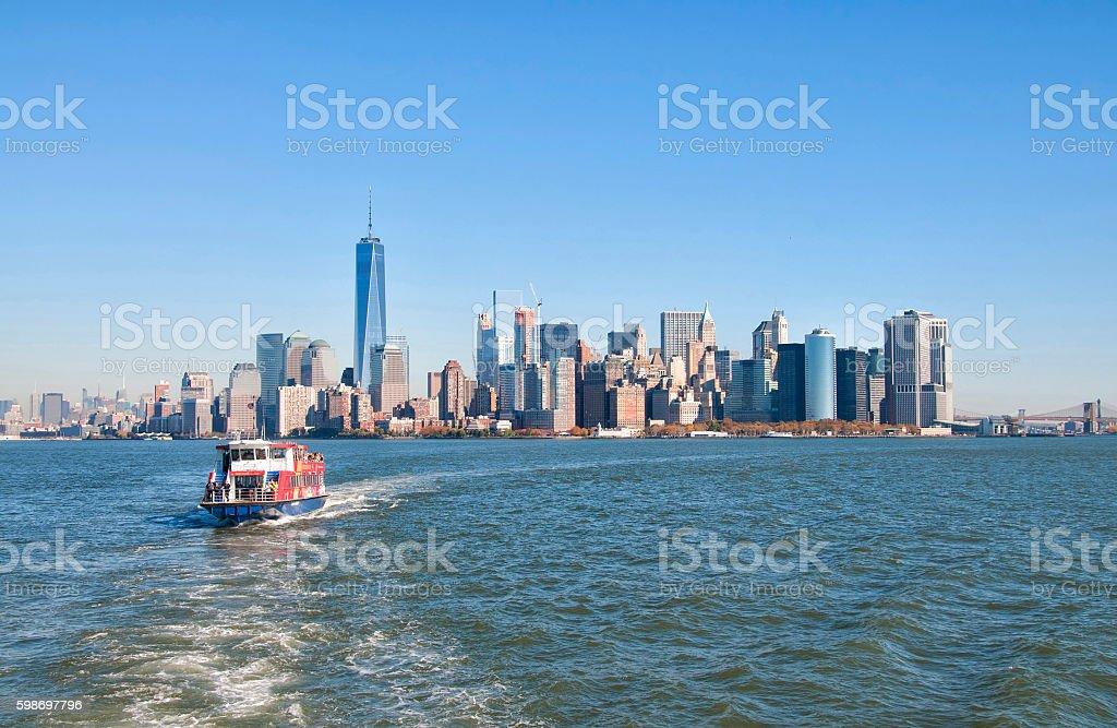 New York City skylineates stock photo