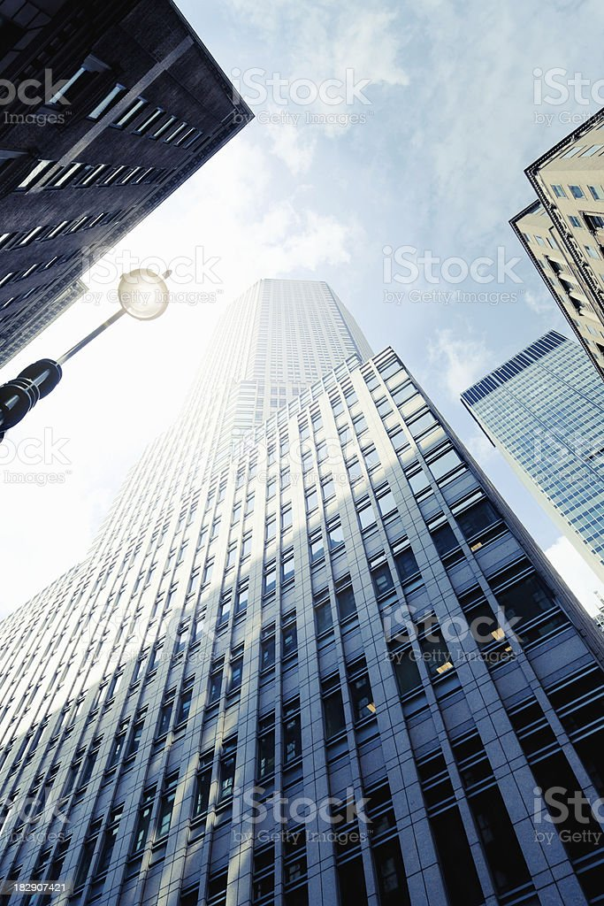 New York City Skyscapers Downtown Manhattan royalty-free stock photo
