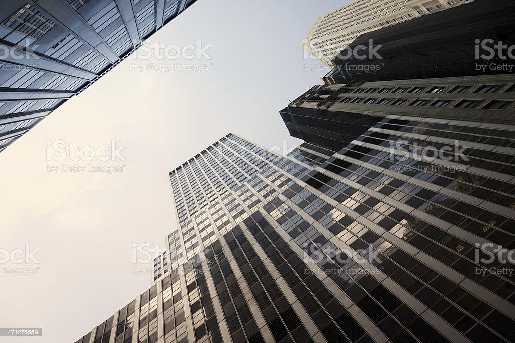 New York City Skyscraper Financial District Manhattan royalty-free stock photo