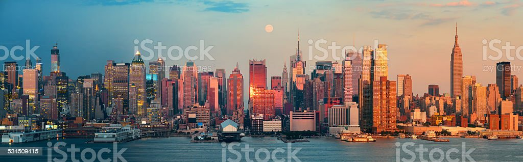 New York City skyscrapers stock photo
