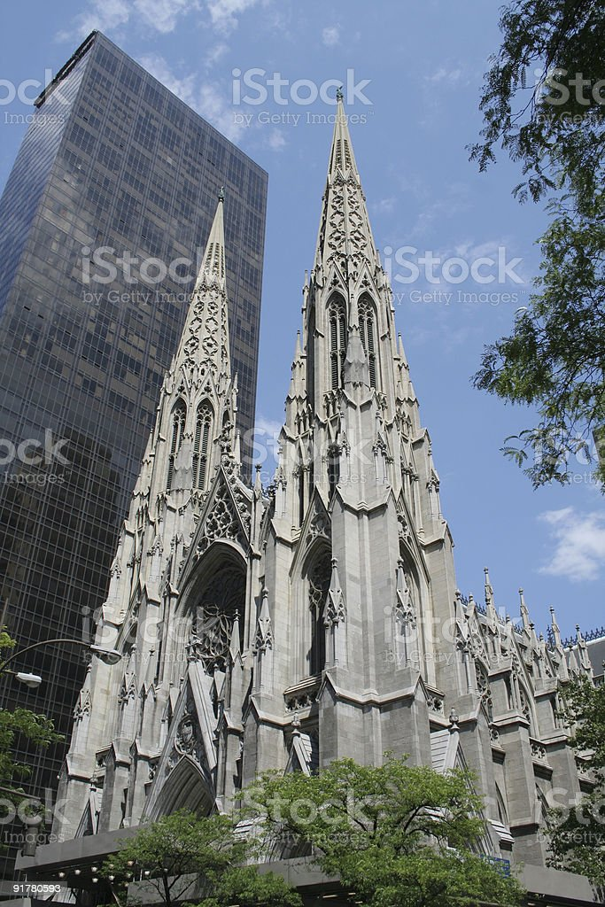 New York City: St. Patrick's Cathedral royalty-free stock photo