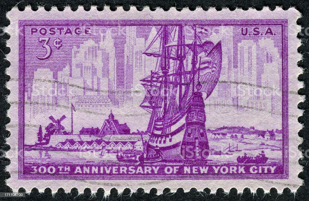 New York City Stamp royalty-free stock photo