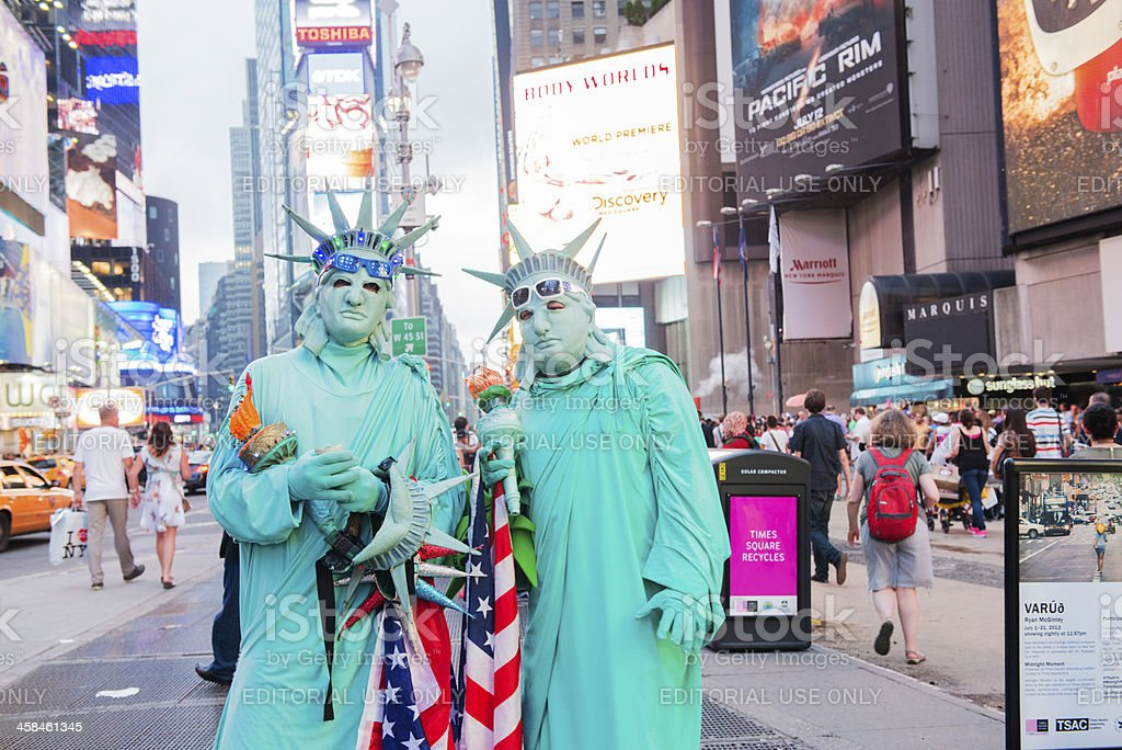 New York City Statue of Liberty in Times Square royalty-free stock photo