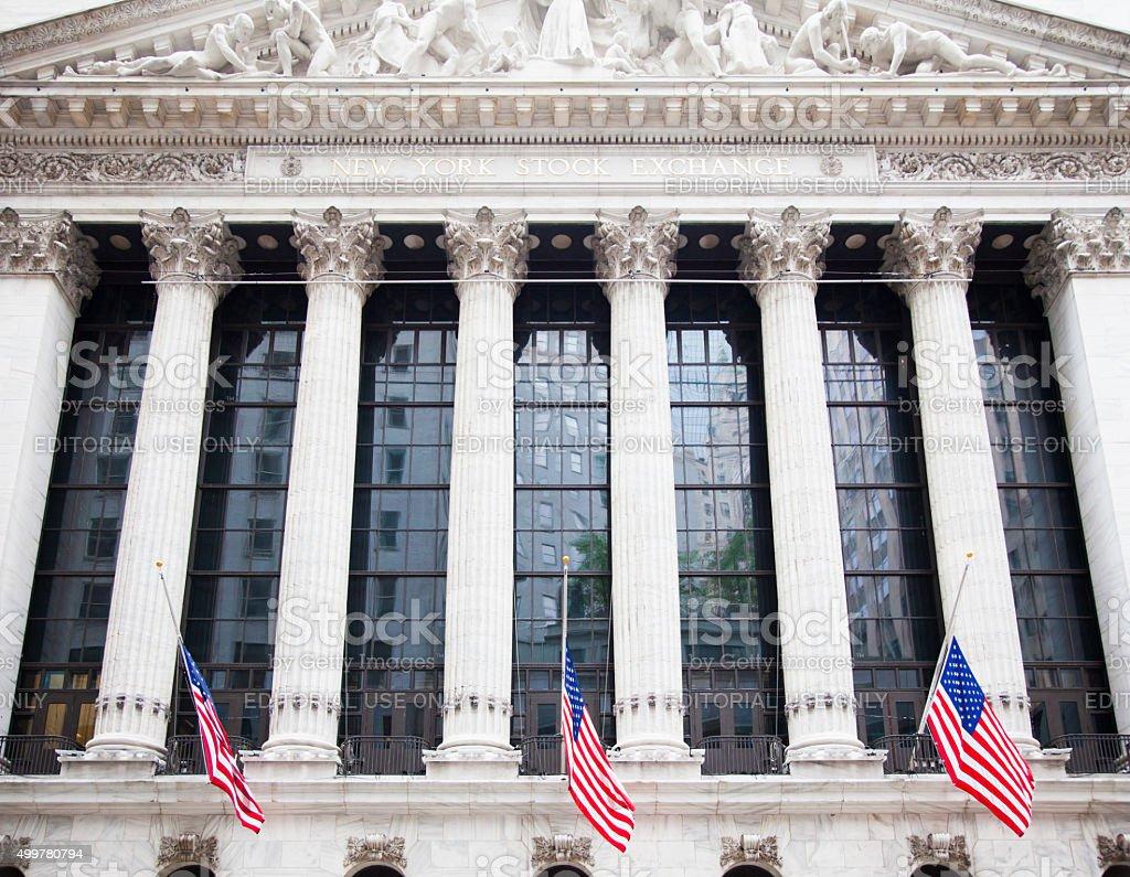 New York City Stock exchange on Wall stree stock photo
