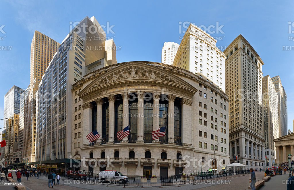 New York City - Stock Exchange stock photo