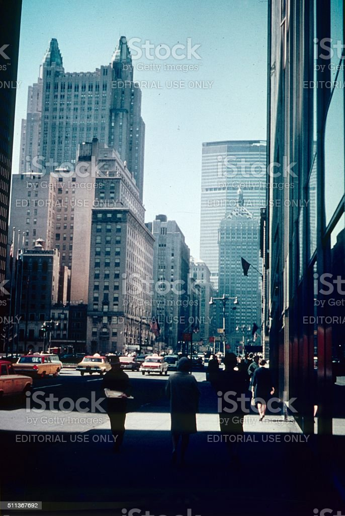 New York City, street scene, 1964 II stock photo