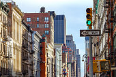 New York City Street Scene in SOHO