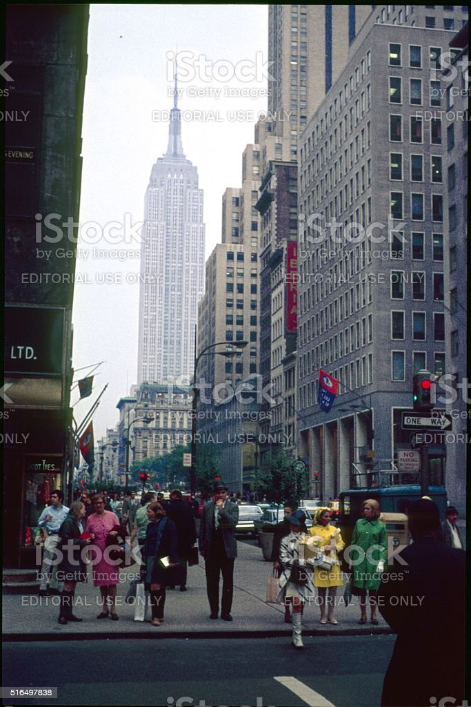 New York City, Street scene, Lexington Avenue stock photo