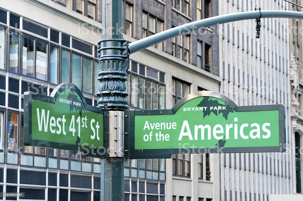 New York City Street Sign stock photo