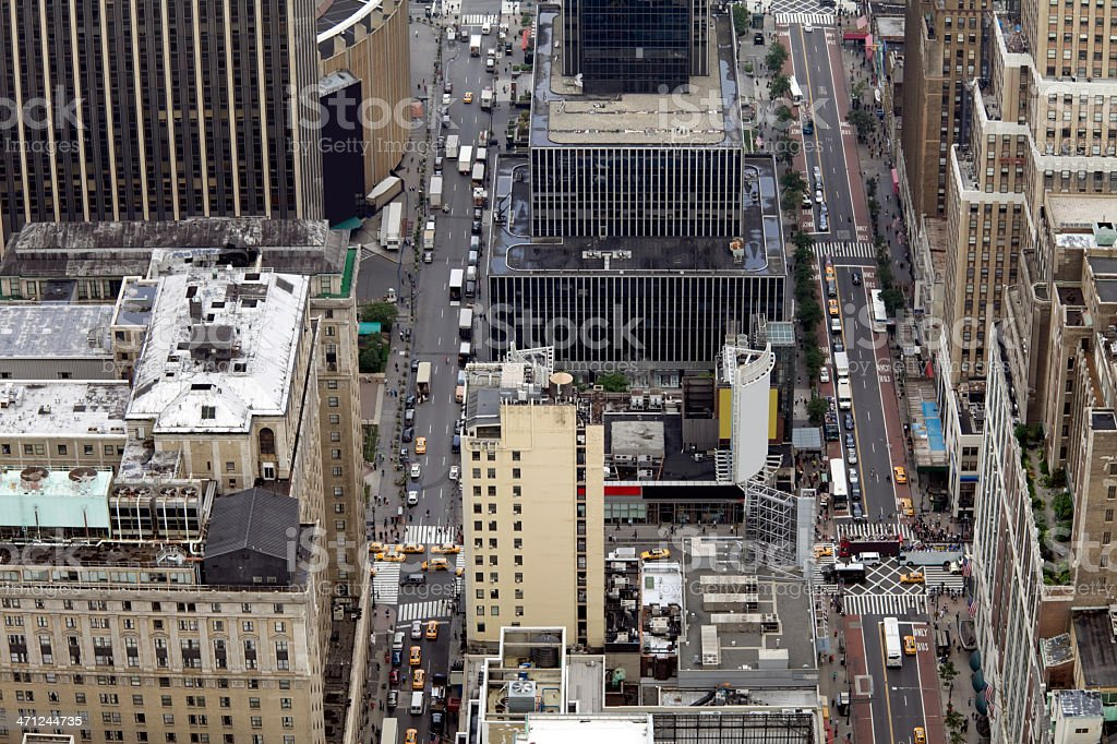 New York City Streets from above (XXXL) royalty-free stock photo