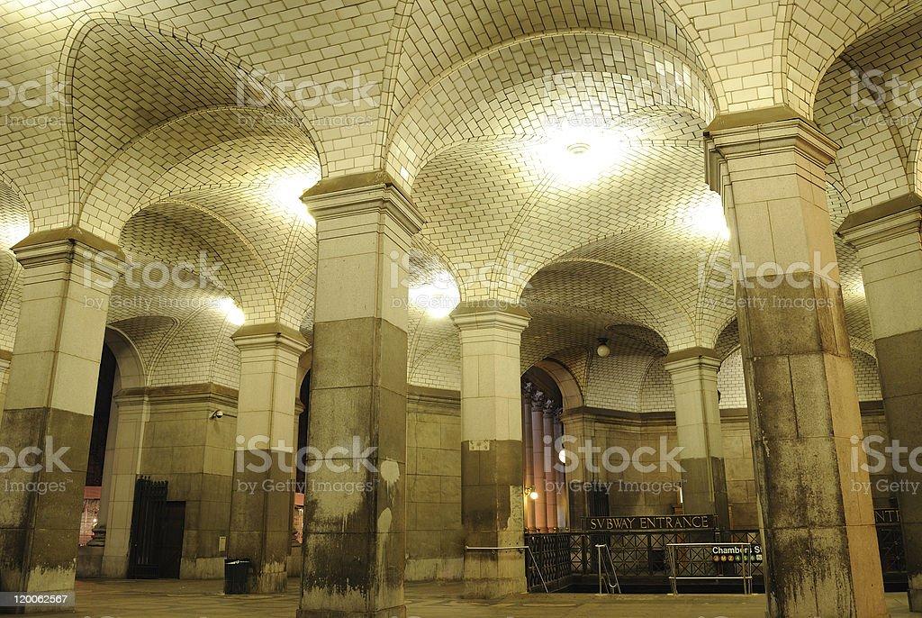 New York City Subway Hall stock photo