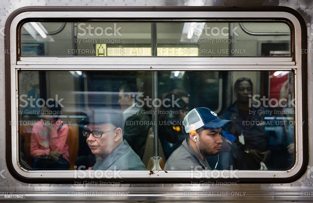 New York City Subway stock photo