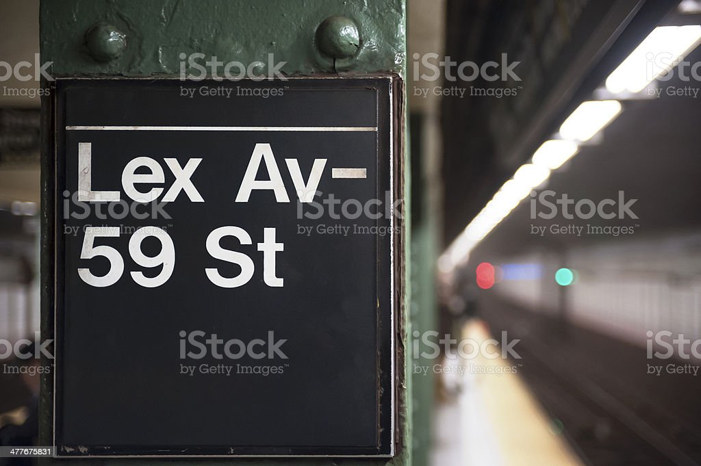 New York City subway sign stock photo