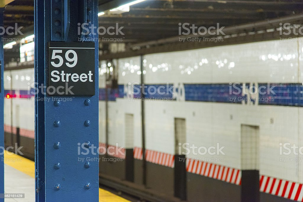 New York City, Subway Station, Train, Manhattan, USA stock photo