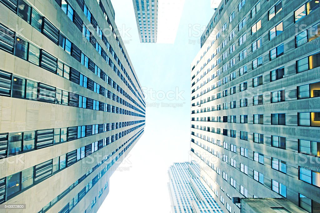New York City Tall Buildings stock photo