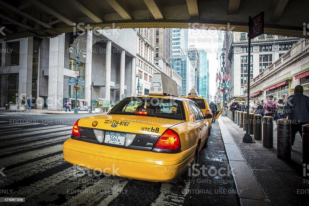 New York City Taxi stock photo