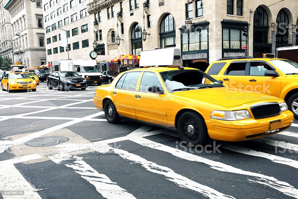 New York City Taxis stock photo