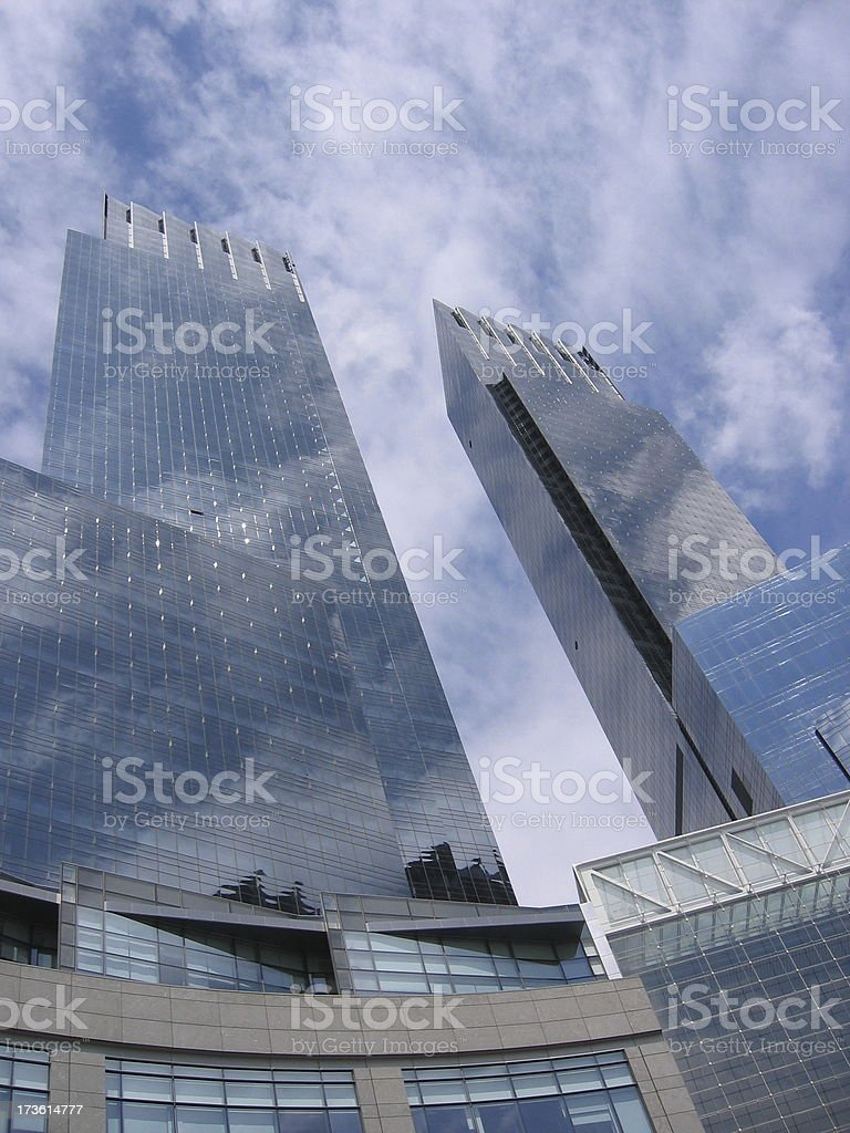 New York City Time Warner royalty-free stock photo