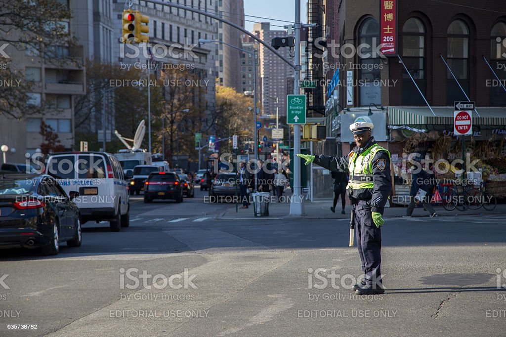 New York City Traffic Cop stock photo