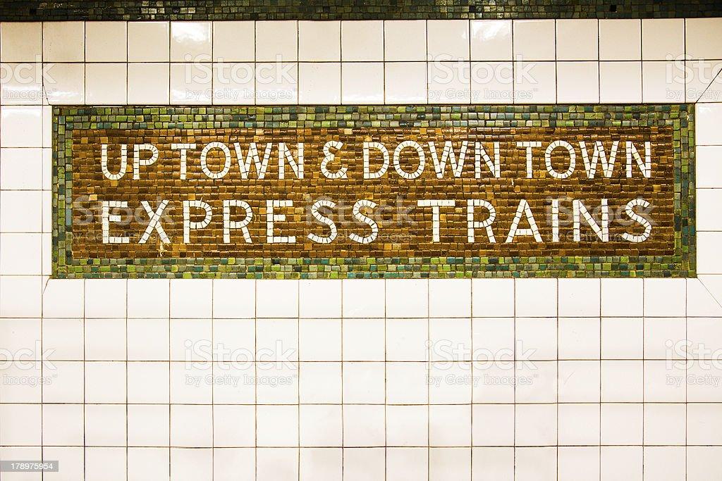 New York City Train Sign stock photo