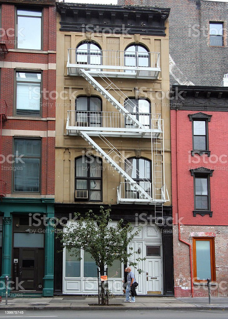 New York City Tribeca District Townhouse stock photo