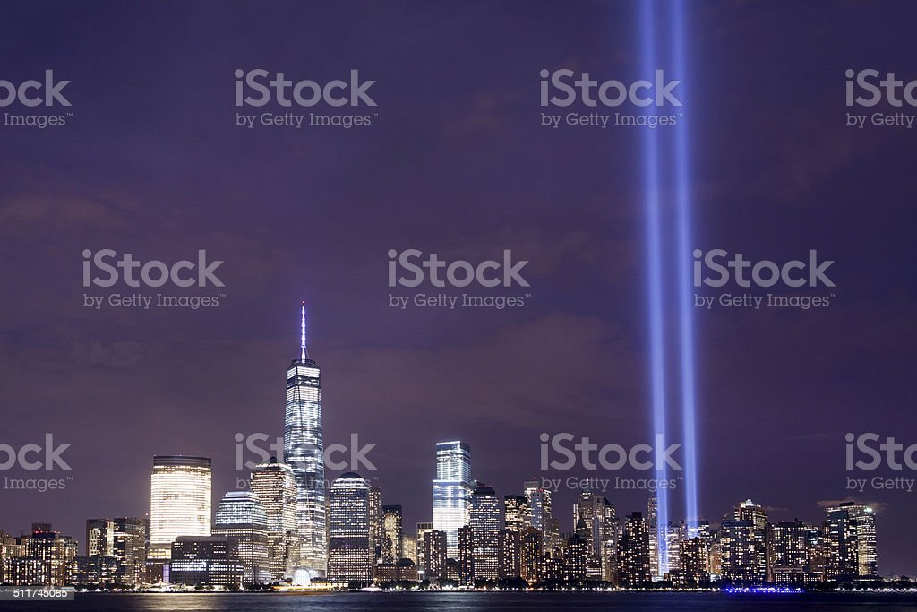 New York City Tribute in Lights stock photo