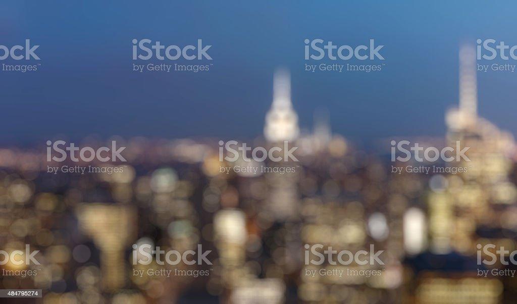 New York city, United States. Panoramic view of Manhattan skylin stock photo