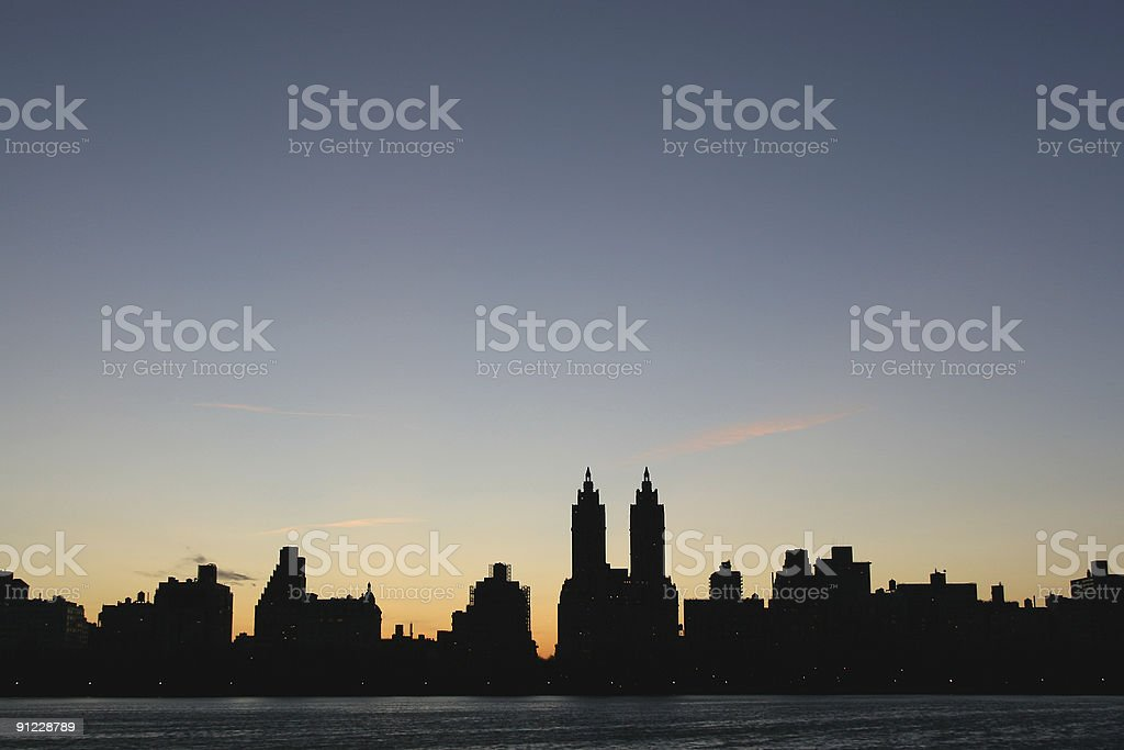 new york city, upper west side skyline royalty-free stock photo