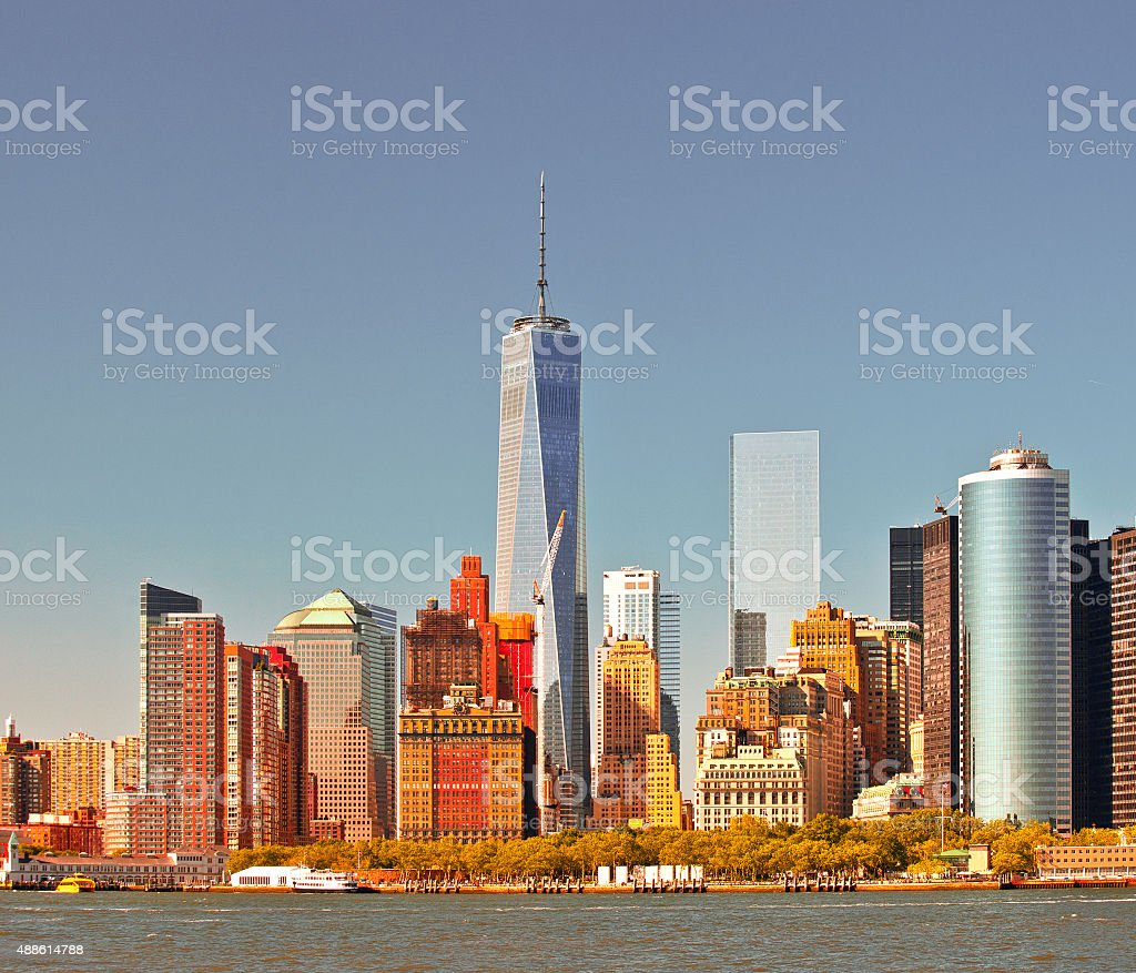 New York City USA, Manhattan business district stock photo