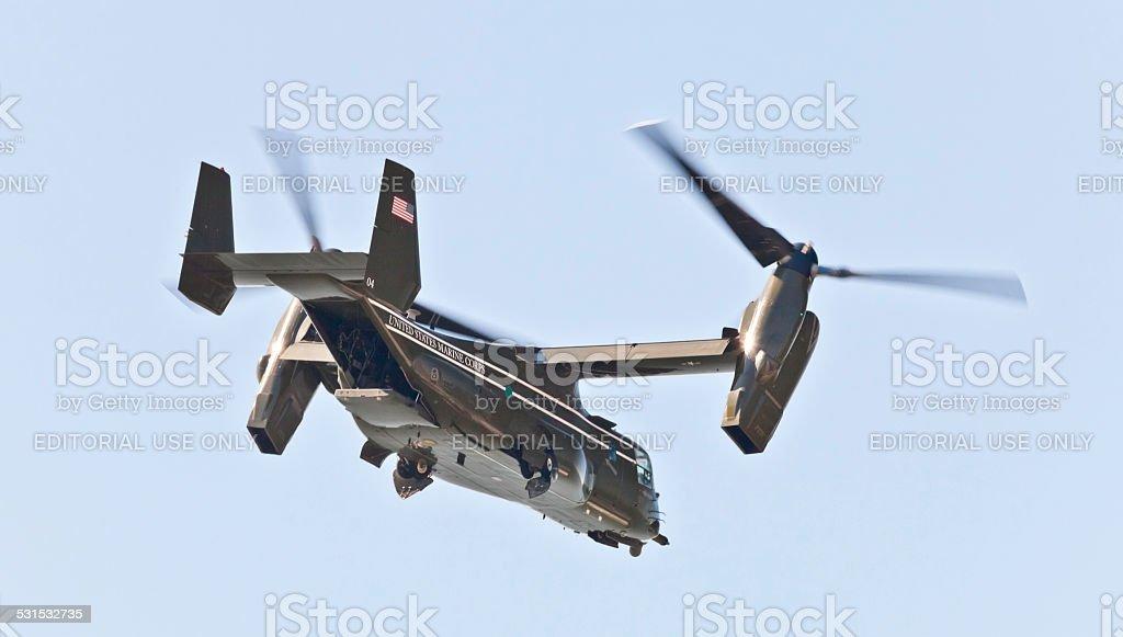 New York City, USA- MV-22 Osprey. stock photo