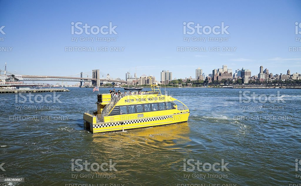 New York City, USA - Water Taxi royalty-free stock photo