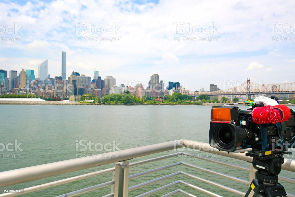 New York City Video Camera stock photo