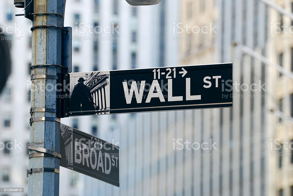 New York City Wall Street stock photo
