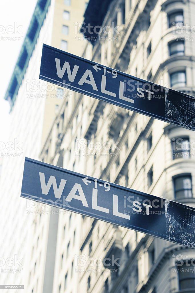 New York City Wall Street Sign royalty-free stock photo