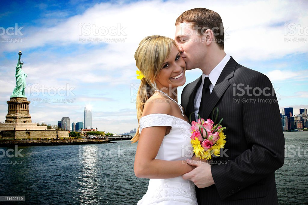 New York City Wedding royalty-free stock photo