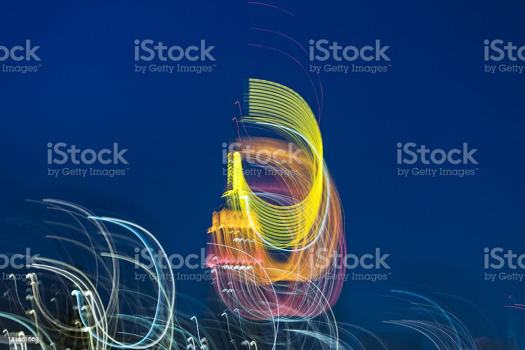 New York City with abstract motion blurred lights royalty-free stock photo