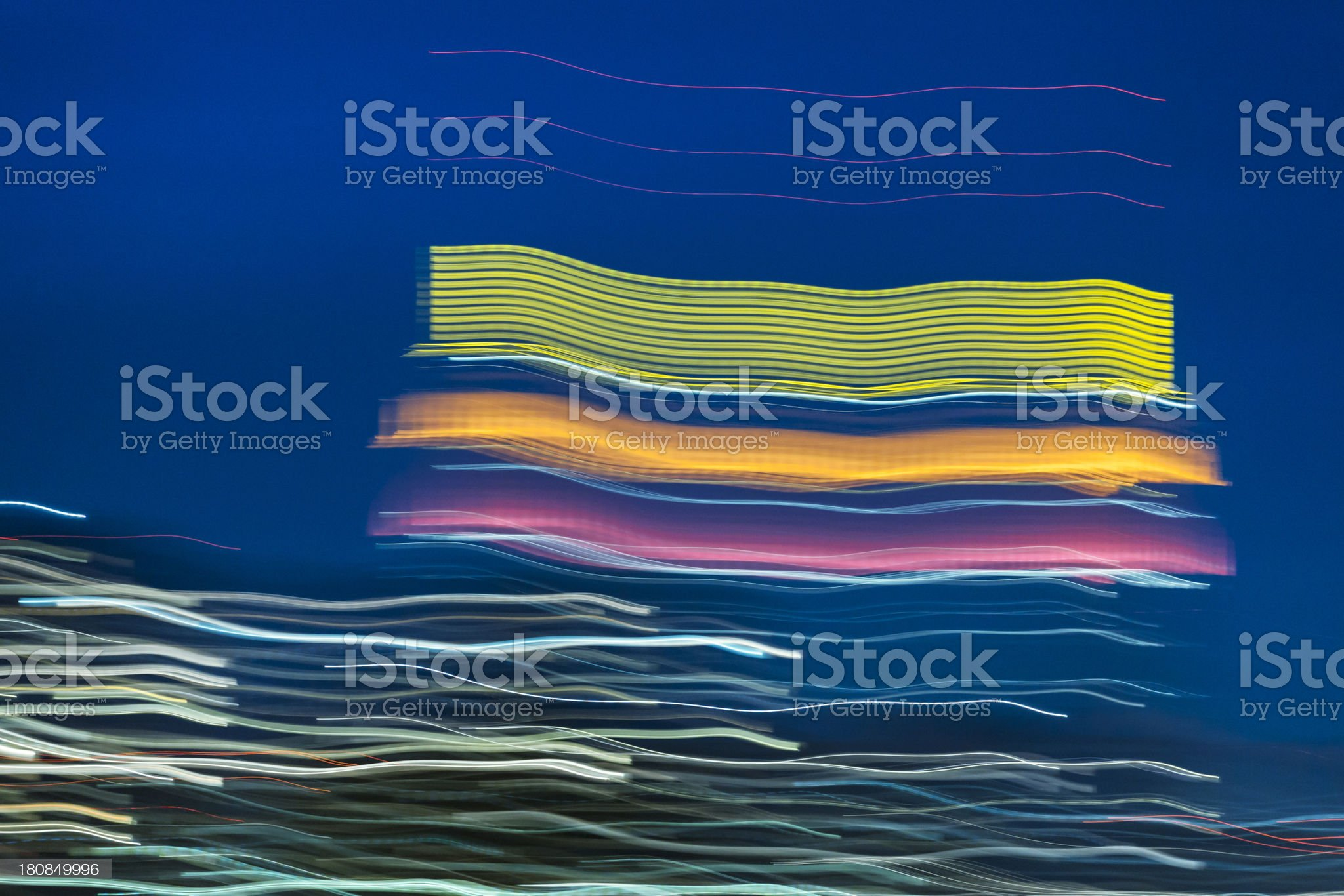 New York City with abstract panning motion lights royalty-free stock photo