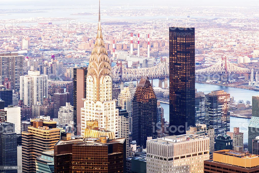 New York Cityscape in the morning royalty-free stock photo