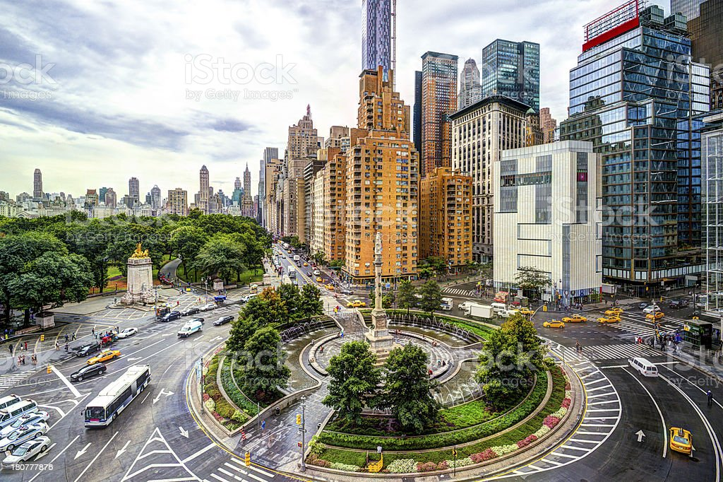 New York Columbus Circle stock photo