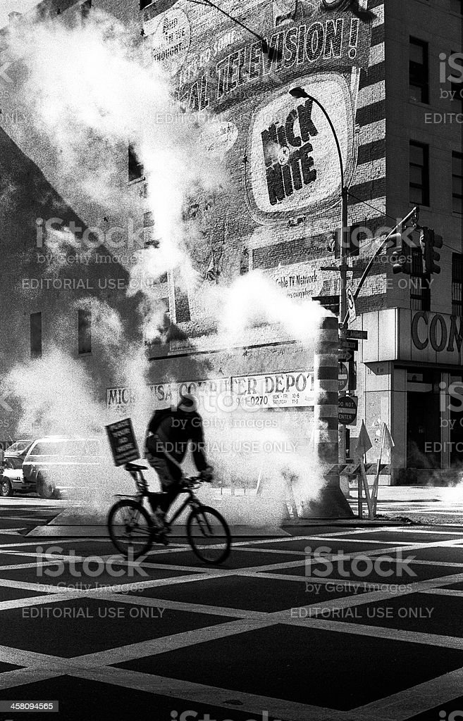 New York cycle courier stock photo