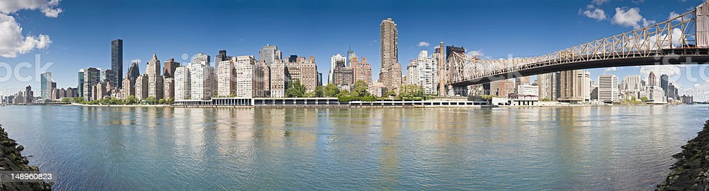 New York East Side cityscape stock photo