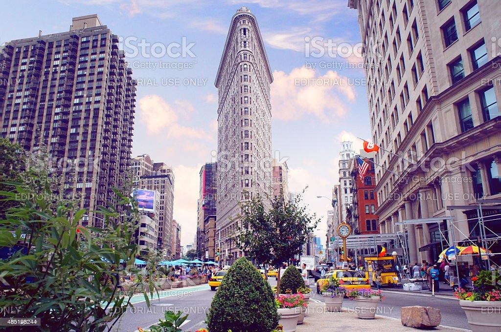 New York evening cityscape stock photo