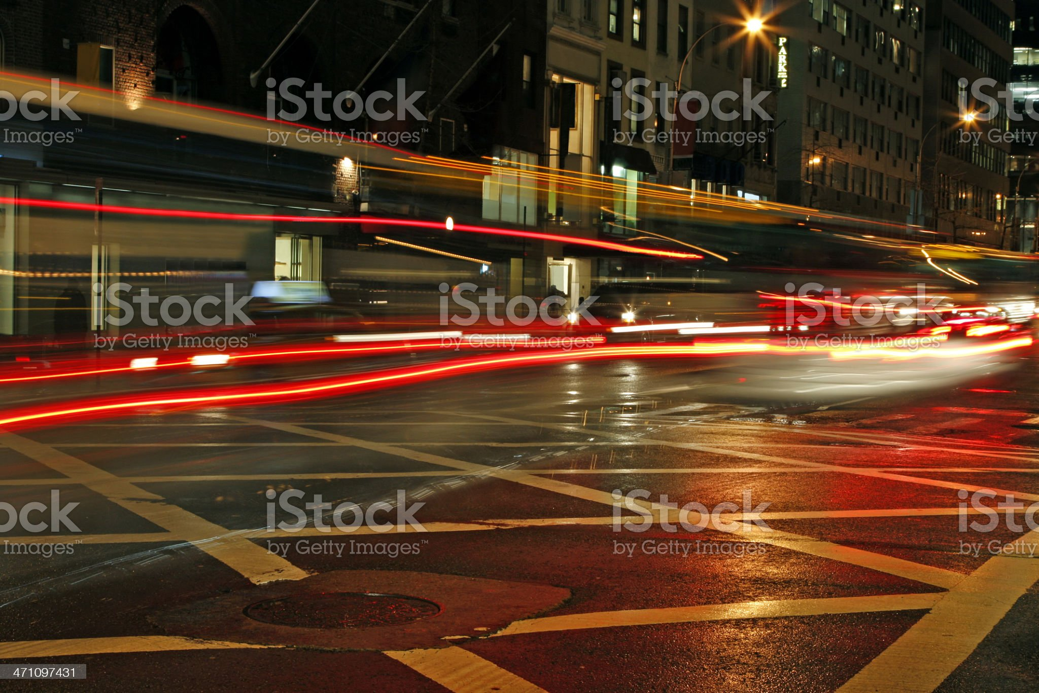 New York evening traffic royalty-free stock photo