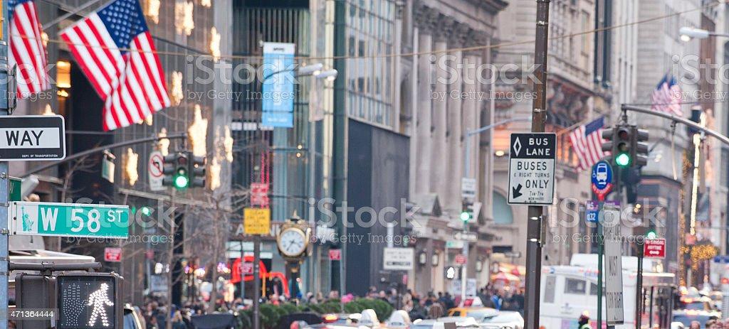 new york fashion ave 58th stock photo