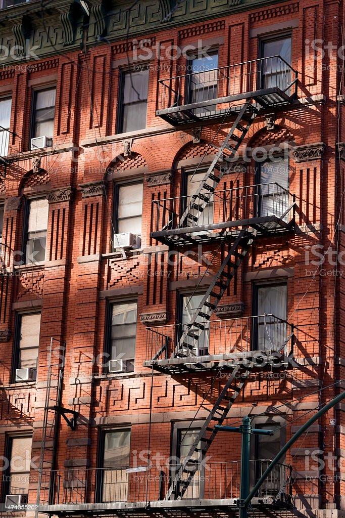 New York Fire Escape stock photo